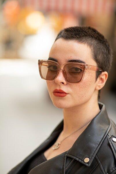 Bianca Nude Kadın Kahverengi Güneş Gözlüğü