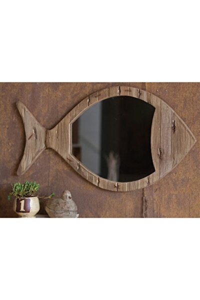 Ahsap Balık Ayna Küçük