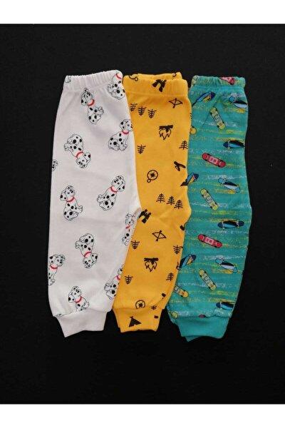 3 Adet %100 Pamuk Bebek Tek Alt Seti , Bebek Pijama, Bebek Alt Giyim , Bebek Giyim