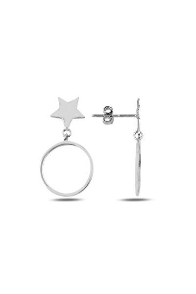 925 Ayar Gümüş Sallantılı Yıldız Küpe