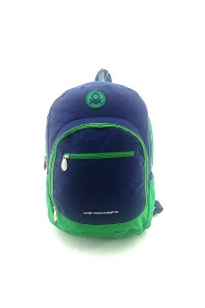 Unisex Lacivert Yeşil Okul Sırt Çantası 96015
