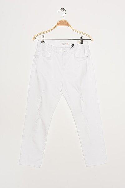 Kadın Beyaz Jeans 0YAK47194MD