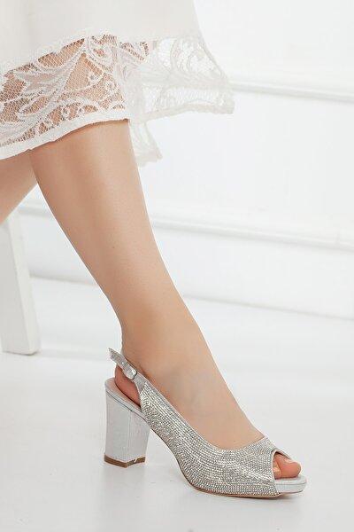 Gümüş Fulltaş Kadın Abiye Ayakkabı Cnr918