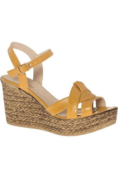 Deichmann Kadın Sarı Dolgu Topuk Sandalet