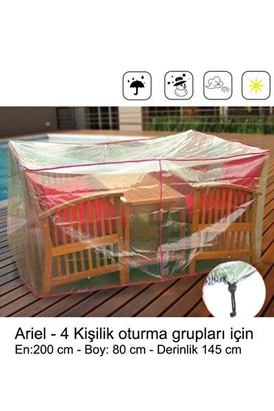 Bahçe Oturma Grubu Koruma Örtüsü - Ariel:200x145x80cm
