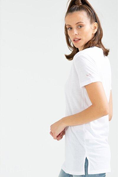 Kadın Tişört Platin Beyaz