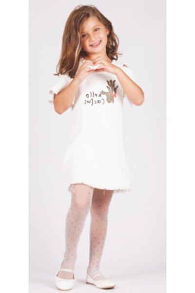 Kız Çocuk Baskılı Külotlu Çorap