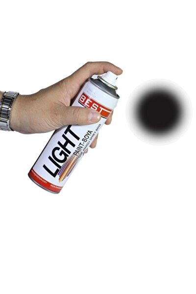 Light Mat Siyah Akrilik Takviyeli Sprey Boya 250 Ml