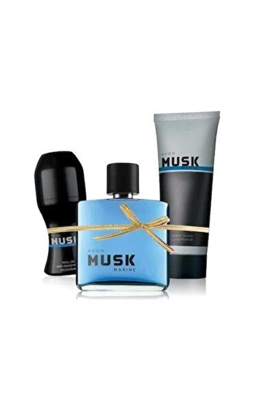 Musk Marine Edt 75 Ml Erkek Parfüm 3 Lü Set
