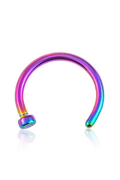 Titanyum Halka Hızma Burun Piercing 0.8x10+2 Renkli