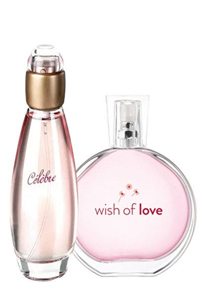 Celebre Edt 50 ml / Wish Of Love Edt 50 ml Kadın Parfümü Seti