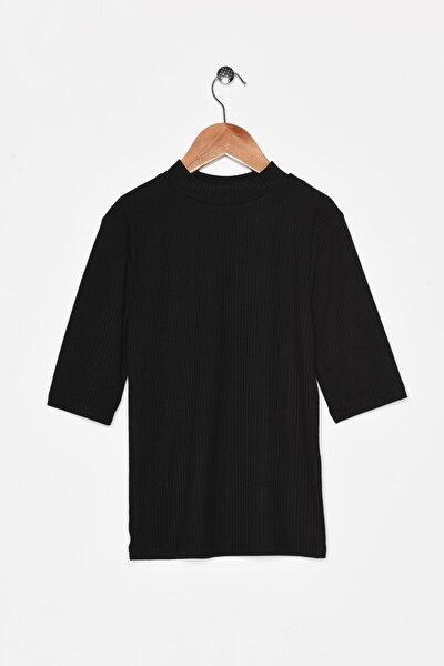 Kadın Siyah T-Shirt 0KAL18173OK