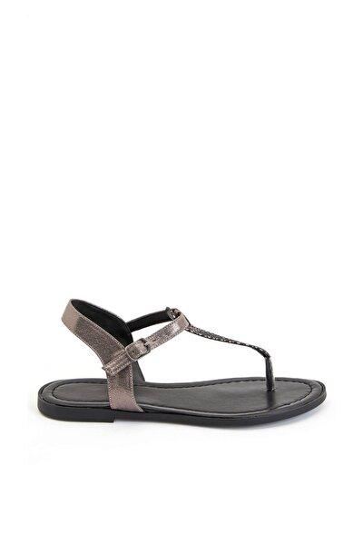 Kadın Sılver Yılan Desenli Sandalet S7094AZ20SM