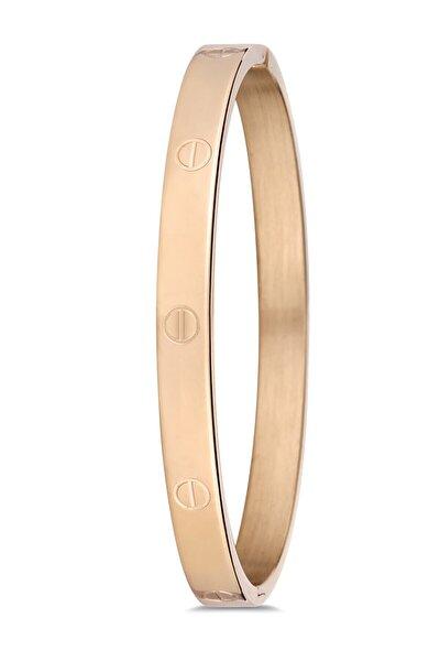 Gold Renk 316l Paslanmaz Çelik Bayan Bileklik