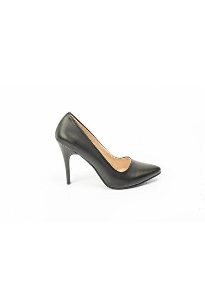 Kadın Siyah Topuklu  Stiletto Ayakkabı