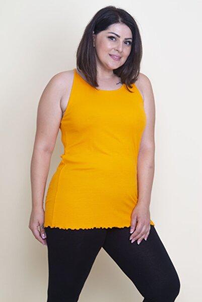 Kadın Oranj Askılı T-Shirt