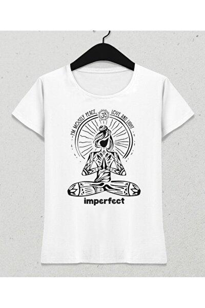 Imperfect Kadın Beyaz Tişört