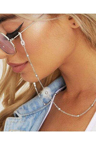 Gümüş Renk Toplu Gözlük Zinciri, Son Moda Güneş Gözlüğü Zinciri