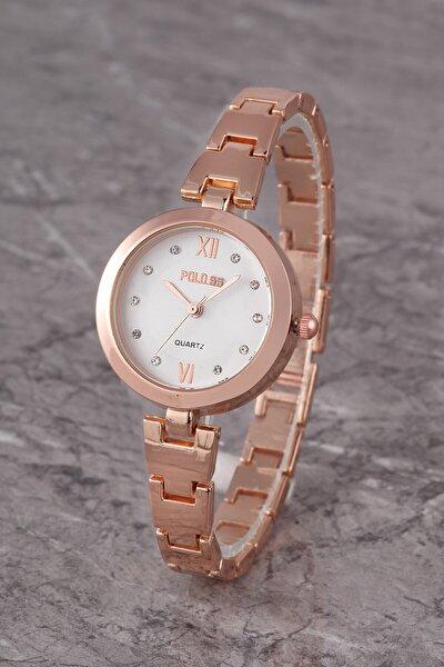 Plkm011r02 Kadın Saat Taş Detaylı Kadran Şık Metal Kordon