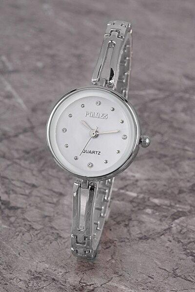 Plkm008r03 Kadın Saat Taş Detaylı Kadran Şık Metal Kordon