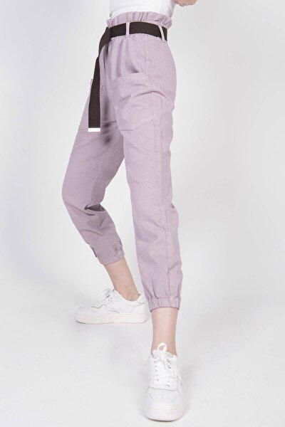 Kadın Lila Cep Detaylı Pantolon Pn4139 Pnd
