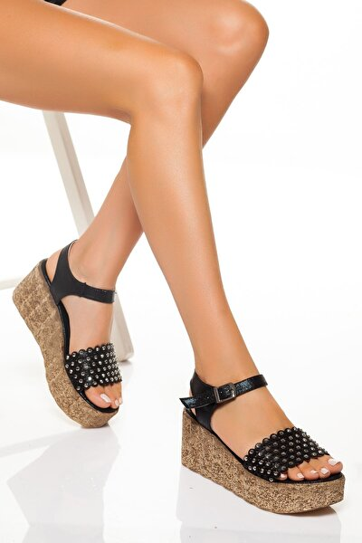 -dolgu Topuklu Ayakkabı-siyah
