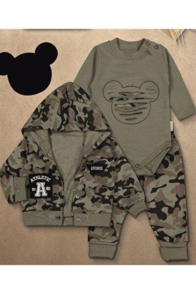 Erkek Bebe Asker Yeşili Kamuflaj Takım