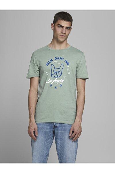 Erkek Yeşil Bisiklet Yaka T-shirt