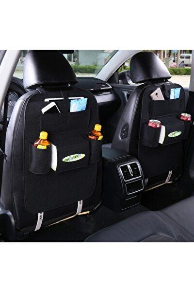Araba Koltuk Arkası Siyah Keçe Organizer Çanta Bagaj Organizer Araç Içi Eşya Düzenleyici Toplayıcı