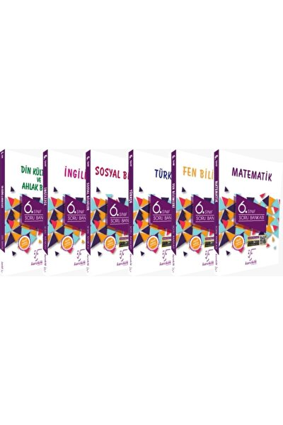6.sınıf Soru Bankası Seti 6 Kitap