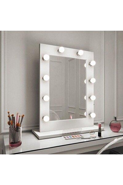 Hollywood Işıklı Kulis Makyaj Aynası 65x45 cm