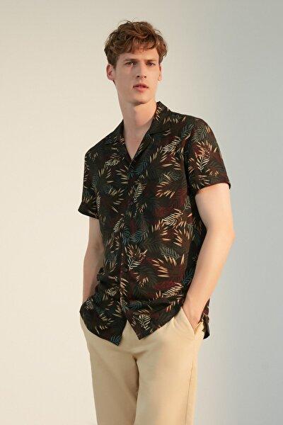Erkek Multi Renk Regular Kesim Baskılı Gömlek 1219641