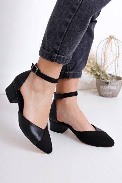 Kadın Siyah Holly Topuklu Süet Ayakkabı