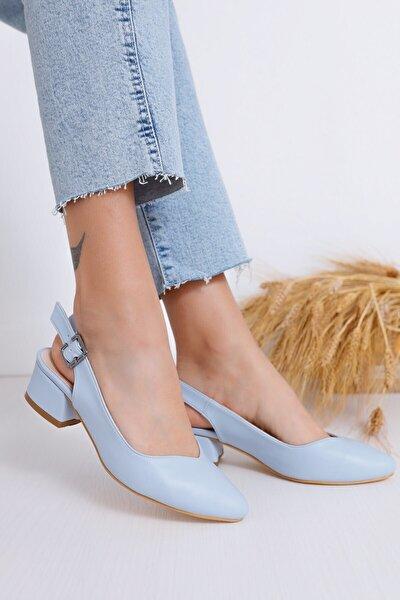 Kadın Bebe Mavisi Valentina Topuklu Ayakkabı