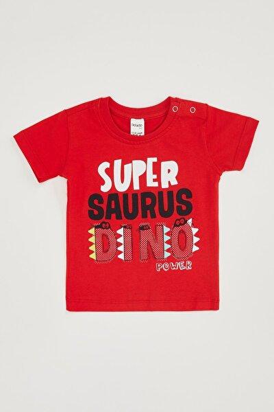 Erkek Bebek Dino Baskılı Tişört