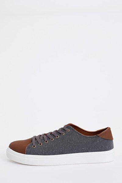 Erkek Grey Bağcıklı Günlük Sneaker Ayakkabı S4766AZ20SP
