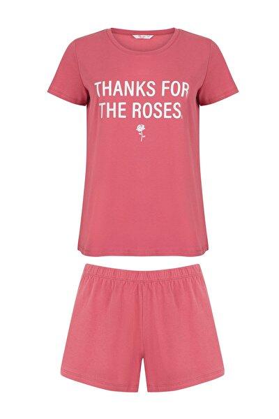 Kadın Roses SS Şortlu Pijama Takımı
