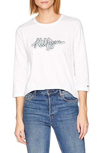 Kadın  Beyaz France Long Sleeve Tshirt