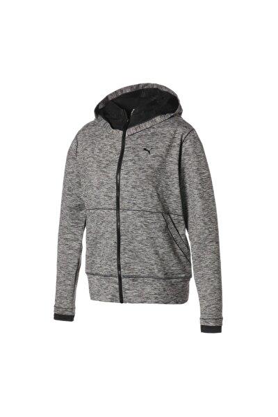 Kadın Gri Studio Yogini Long Jacket Dark Gray Heat Sweatshirt