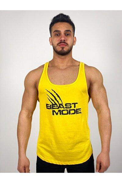 Erkek Sarı Beast Mode Fitness Atlet