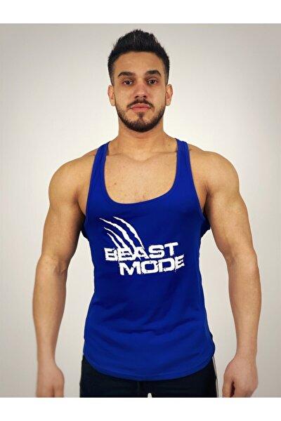 Erkek Mavi Beast Mode Fitness Atlet
