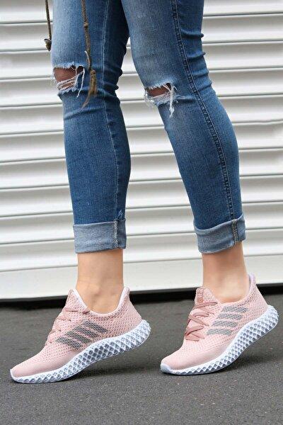 Kadın Pudra Sneaker  Ayakkabı 930zafs4