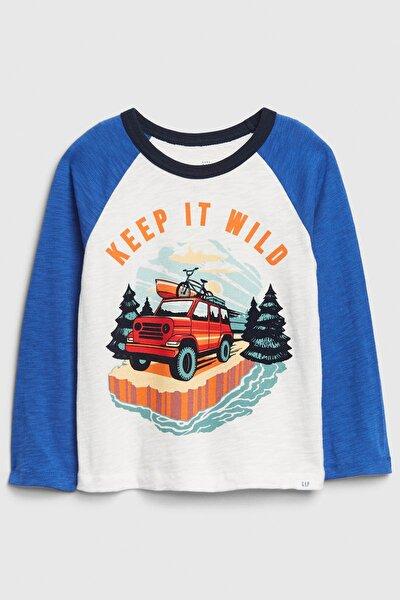 Erkek Bebek Grafik Desenli Uzun Kollu T-Shirt