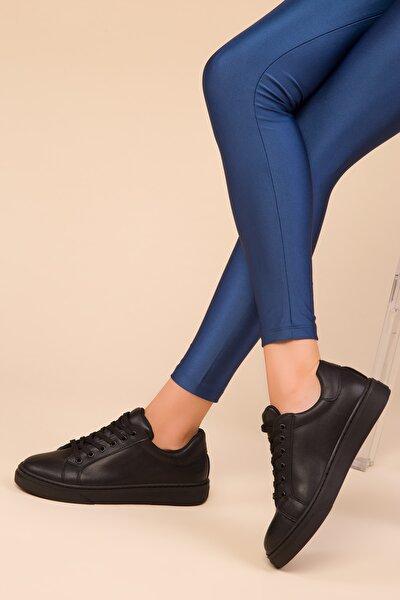 Siyah-Siyah Kadın Sneaker 14395