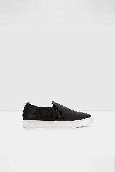 Kadın Siyah Suni Deri Sneaker Ayakkabı