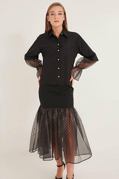 Kadın Sıyah Gömlek 20230003065