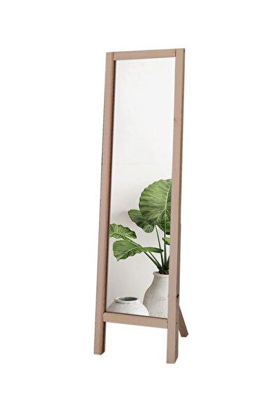 Ayaklı Boy Aynası Ham Renkli Masif Ahşap 41x145 Cm