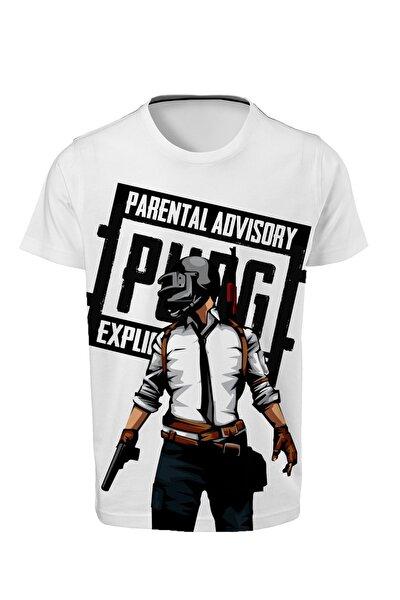 Pubg - Paec - Dijital Baskılı Beyaz Unisex T-shirt K-01