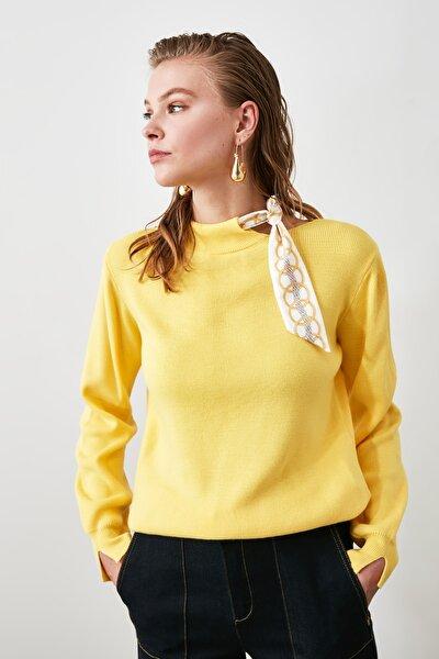 Sarı Fularlı Triko Kazak TWOAW20FV0067