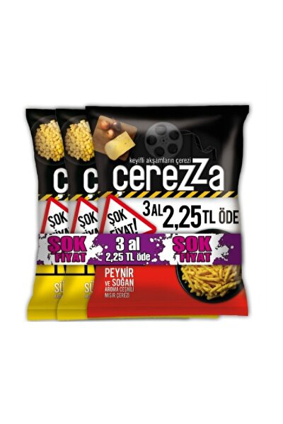 3'lü Paket Çerezza Cips 103 gr